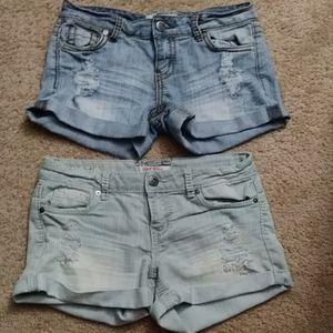 2 pair shorts